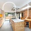 kitchen extension dulwich with flat roof and open brick work